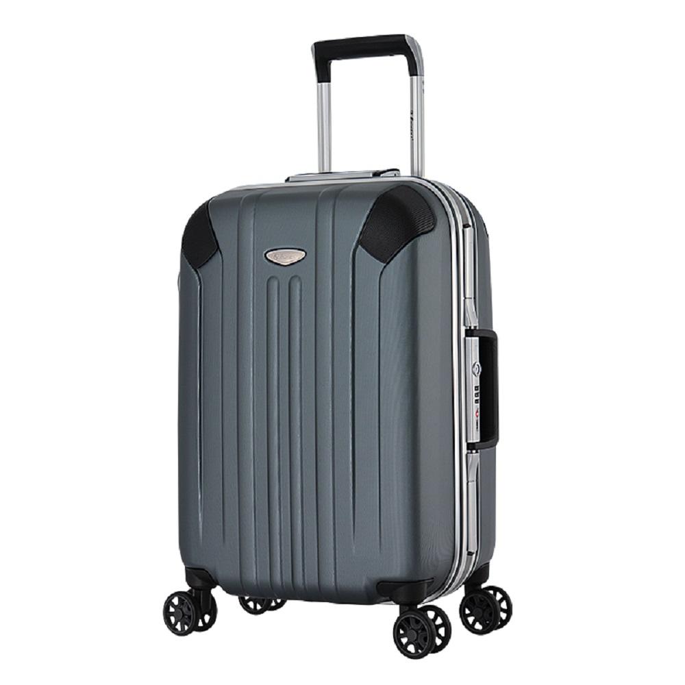eminent【艾伯納】獨特壓紋設計PC鋁框行李箱 20吋<新黑灰>9L8