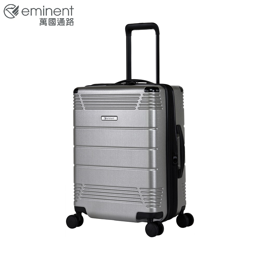 eminent【FUTURE】未來元素感設計PC行李箱 20吋<銀色拉絲> KJ21