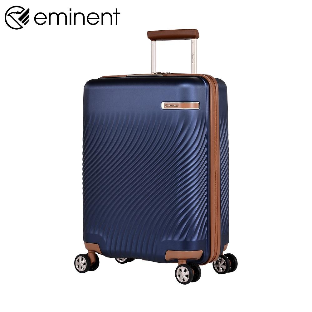 eminent【VINTAGE】法式懷舊典雅造型PC行李箱 拉鍊箱 20吋(新品藍) KJ99