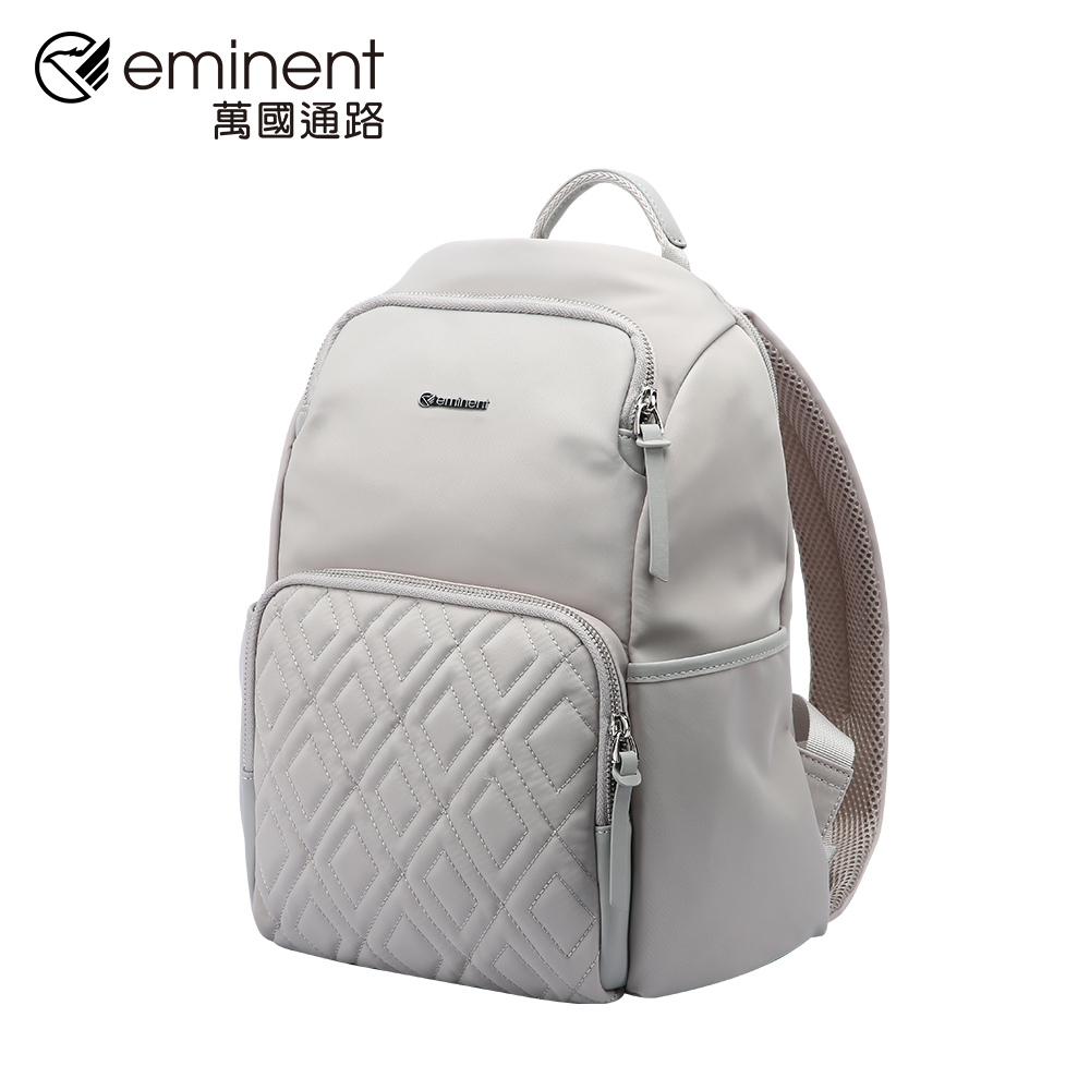 eminent 【奧蘿拉】62-28121-12吋-菱格後背包 (灰色)