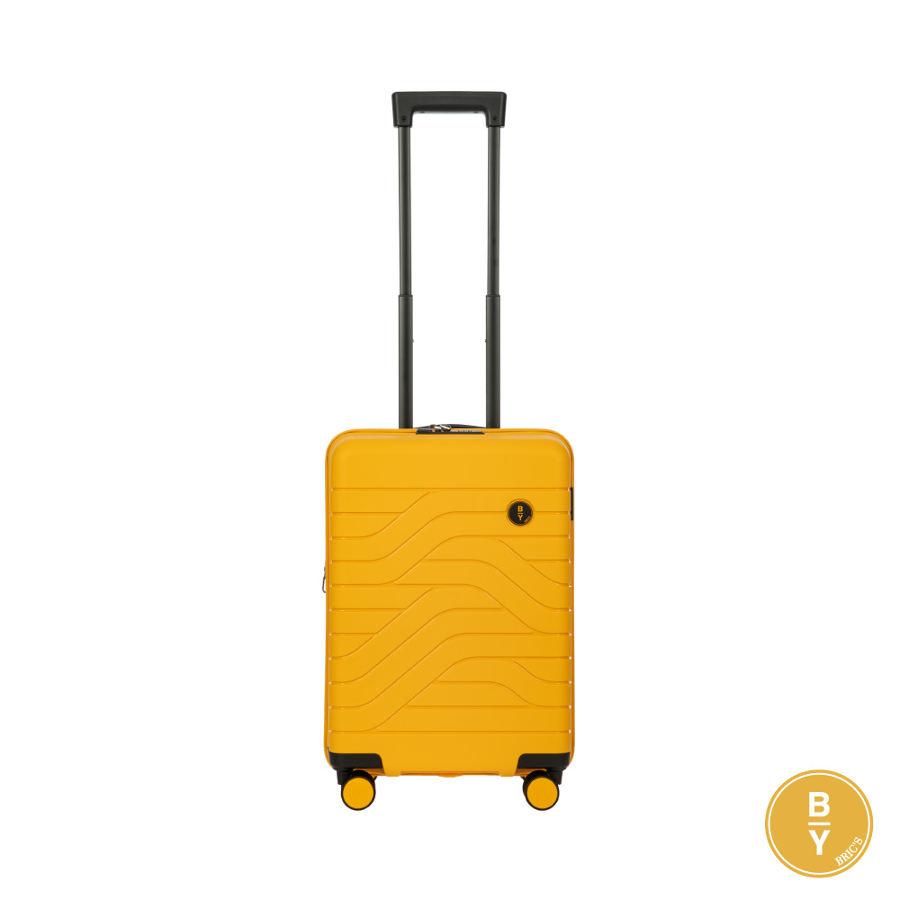 《Traveler Station》義大利 Bric's BY Ulisse 19.5吋 芒果黃 可擴充拉鍊登機箱