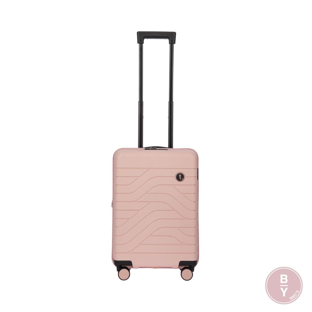 《Traveler Station》義大利 Bric's BY Ulisse 19.5吋 玫瑰粉 可擴充拉鍊登機箱