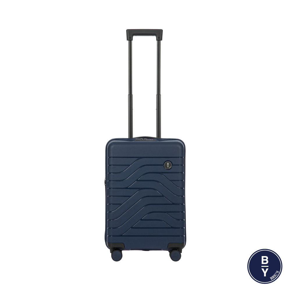 《Traveler Station》義大利 Bric's BY Ulisse 19.5吋 深藍 可擴充拉鍊登機箱