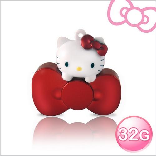 【可愛小物】Hello Kitty 32GB 蝴蝶結系列造型隨身碟