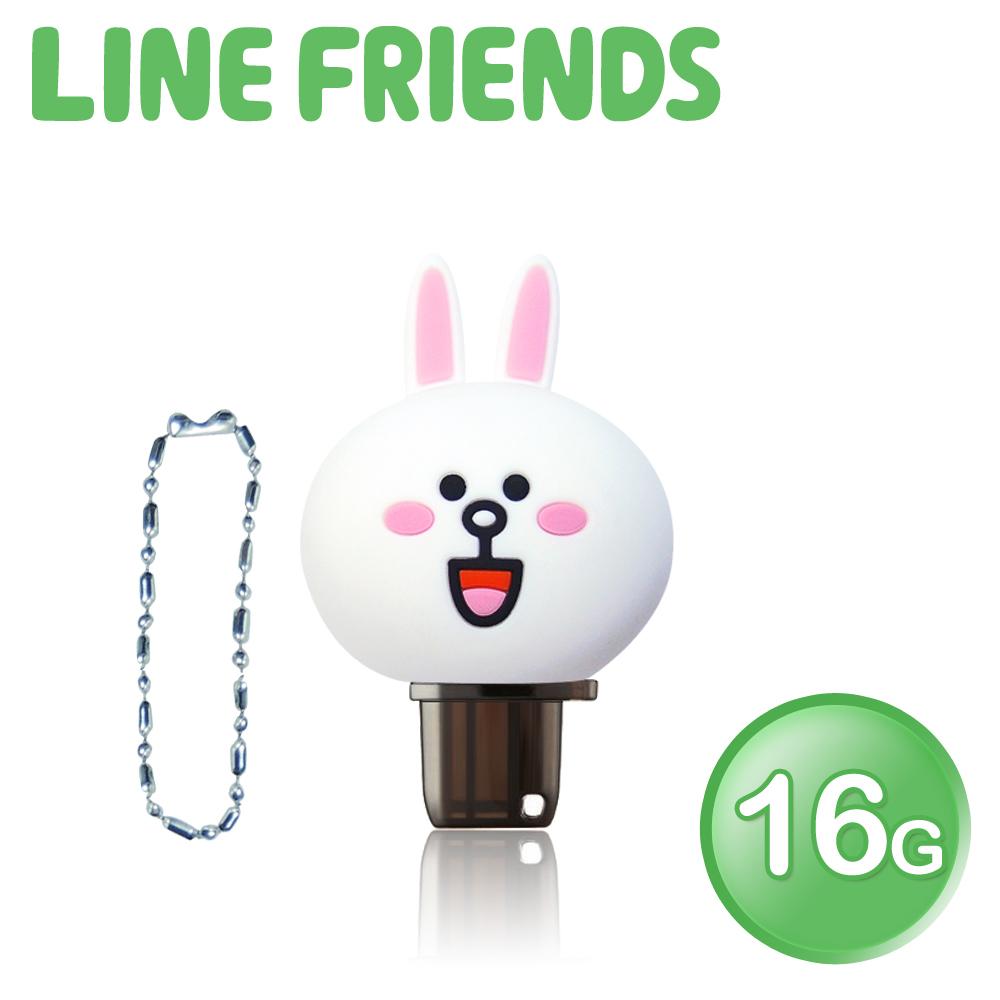 【白色情人節】LINE FRIENDS 立體造型 16GB OTG雙介面隨身碟 QQ兔兔