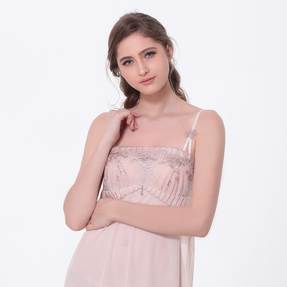 LADY 凡爾賽玫瑰系列 刺繡性感襯衣 (玫瑰膚)