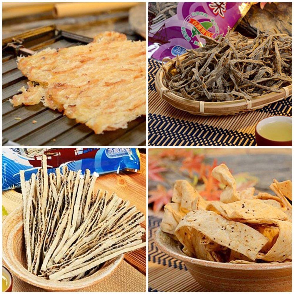 預購《東港華得》禮盒B(碳烤魷魚片+黑胡椒魚板+黑芝麻鱈魚絲+墨魚香絲)