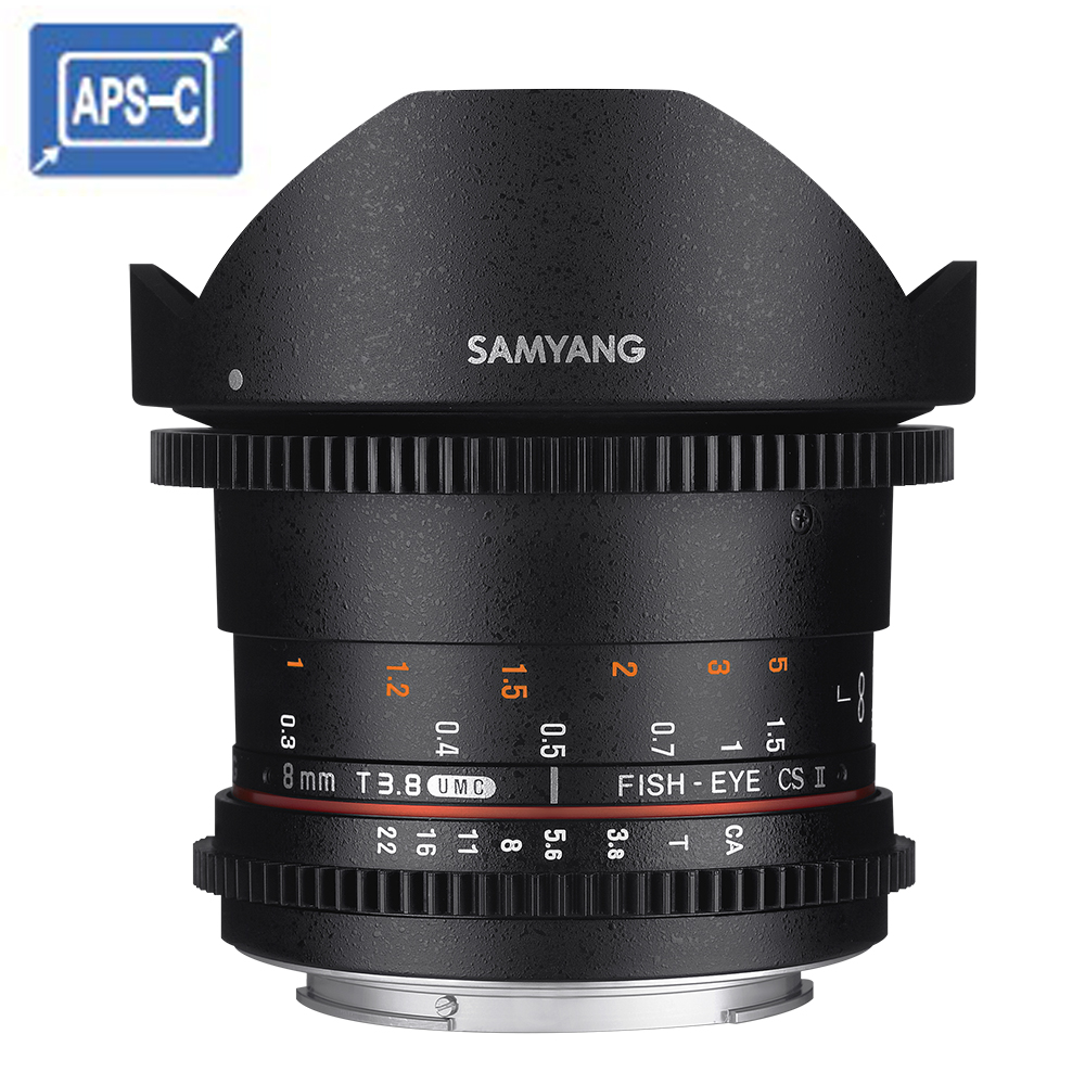 SAMYANG 三陽 8mm T3.8 VDSLR UMC Fish-eye CS II APS-C 微電影鏡頭 (公司貨)