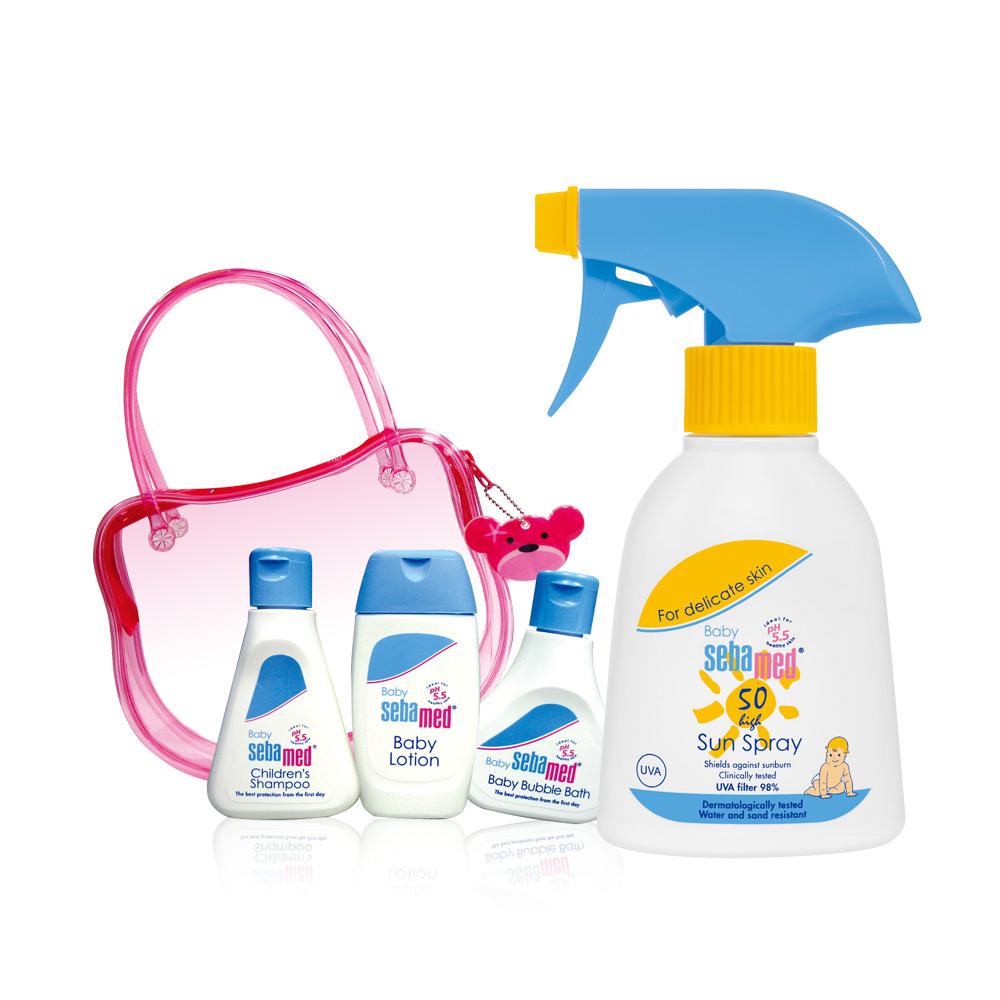 施巴 sebamed ph5.5 嬰兒防曬乳SPF50+小熊旅行包