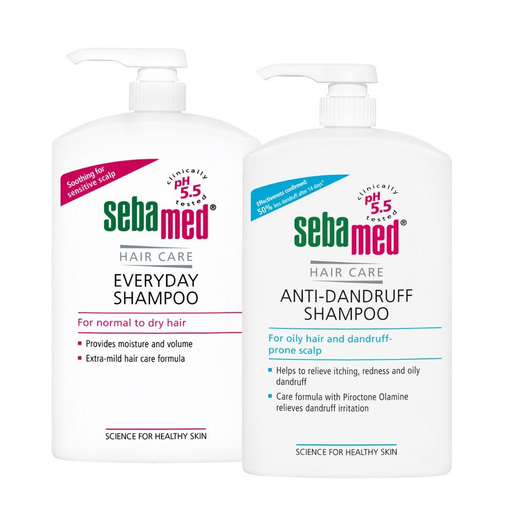 施巴 sebamed ph5.5 油性洗髮乳1000ml+溫和洗髮乳1000ml二入組