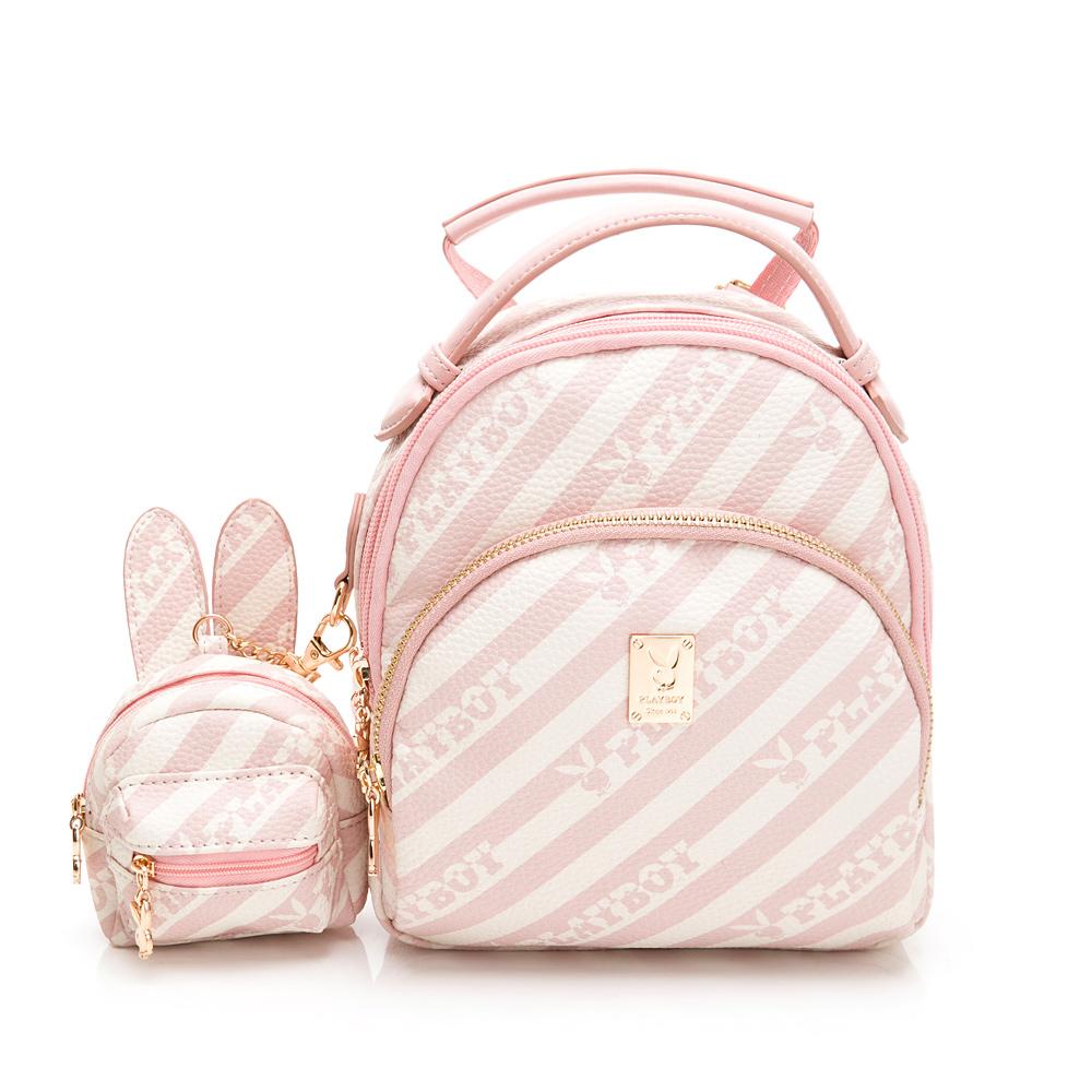 PLAYBOY- 小後背包可肩背 粉潮流系列 -粉色