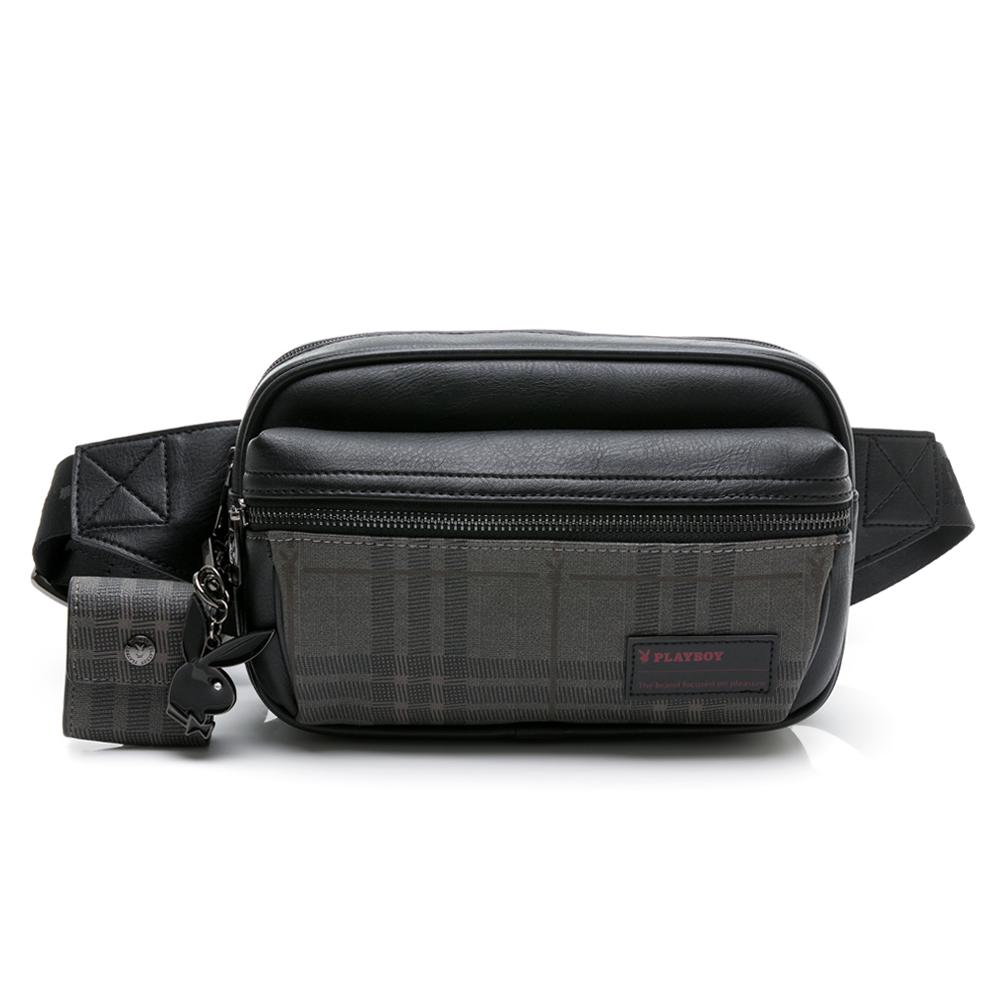 PLAYBOY- 腰包可單肩背 City系列 -黑色