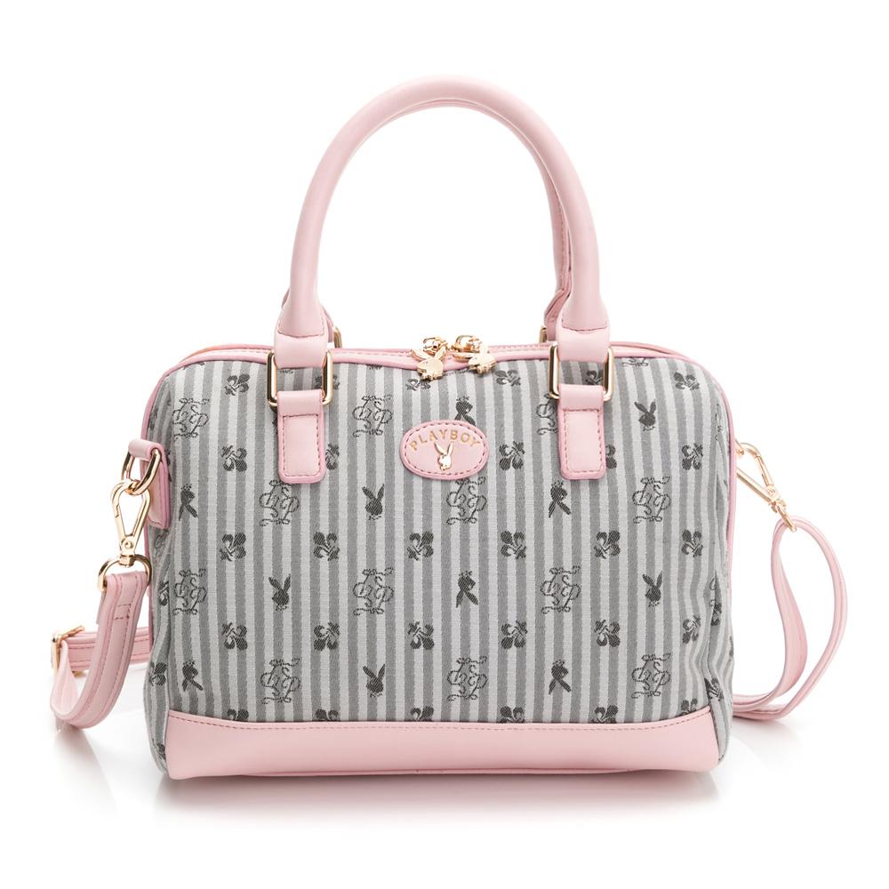 PLAYBOY- 手提包附長背帶 kalos系列-淡粉色