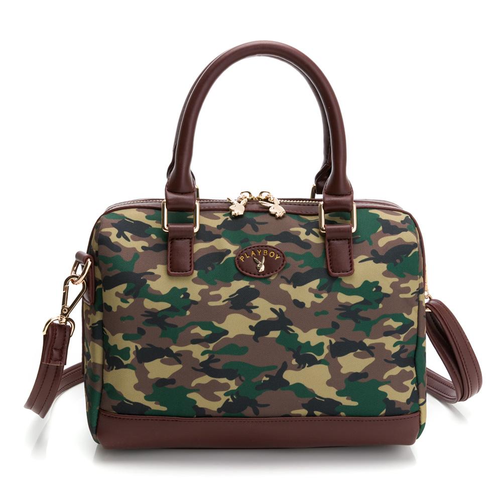 PLAYBOY- 手提包附長背帶 kalos系列-咖啡色