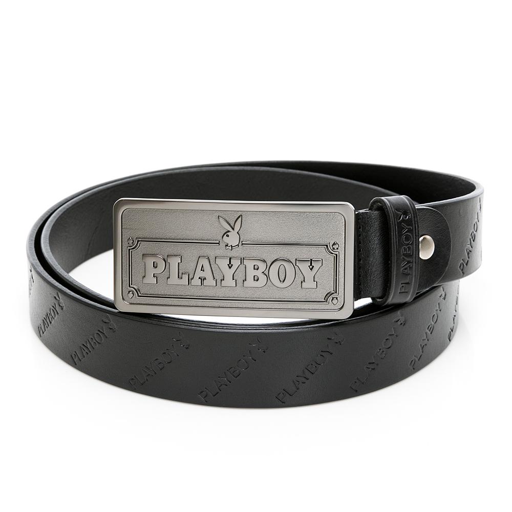 PLAYBOY- PLAYBOY皮帶系列-黑色