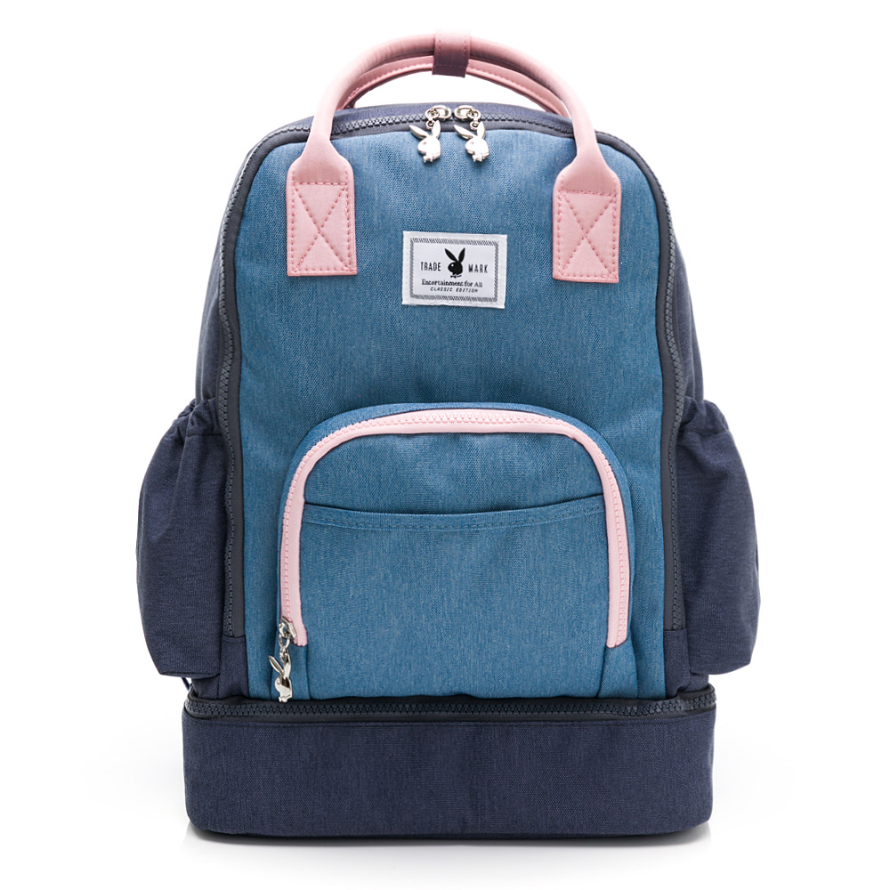 PLAYBOY- 後背包 GOOD DAY-淺藍色