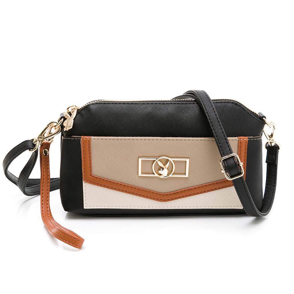 PLAYBOY- 萬用包附手挽帶與長背帶 Palette系列-咖啡色