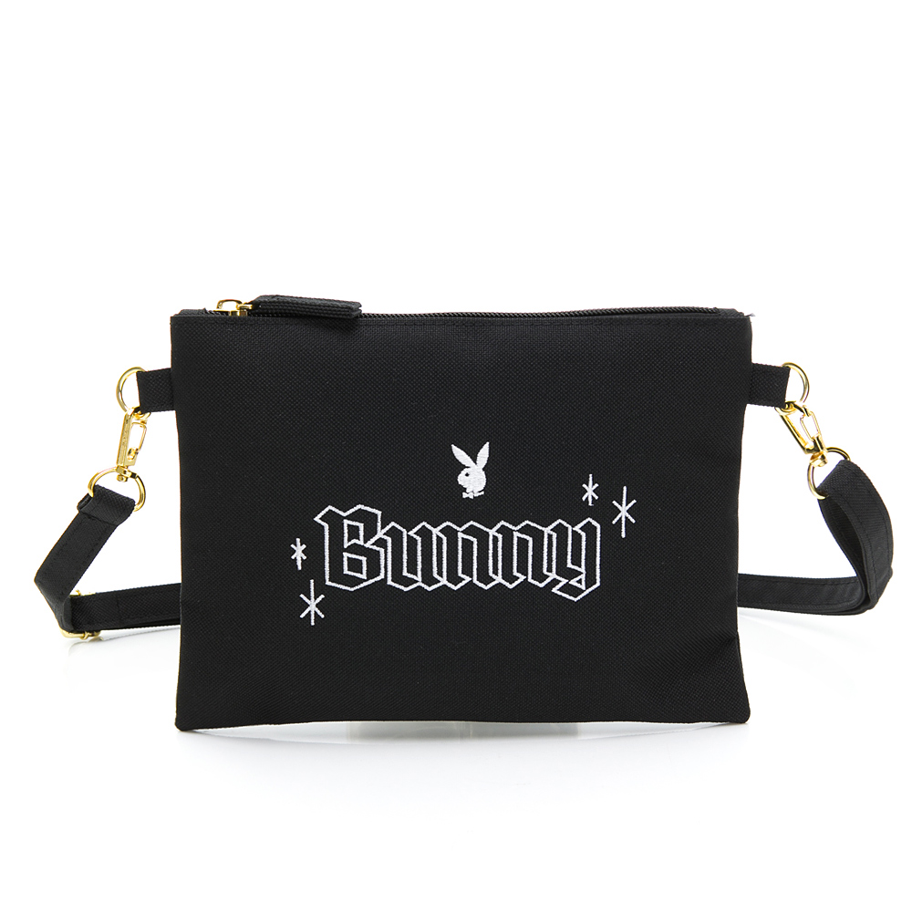 PLAYBOY- 斜揹小包 BUNNY兔系列-黑色