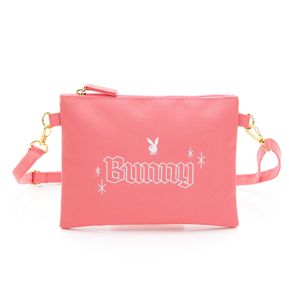 PLAYBOY- 斜揹小包 BUNNY兔系列-粉紅色