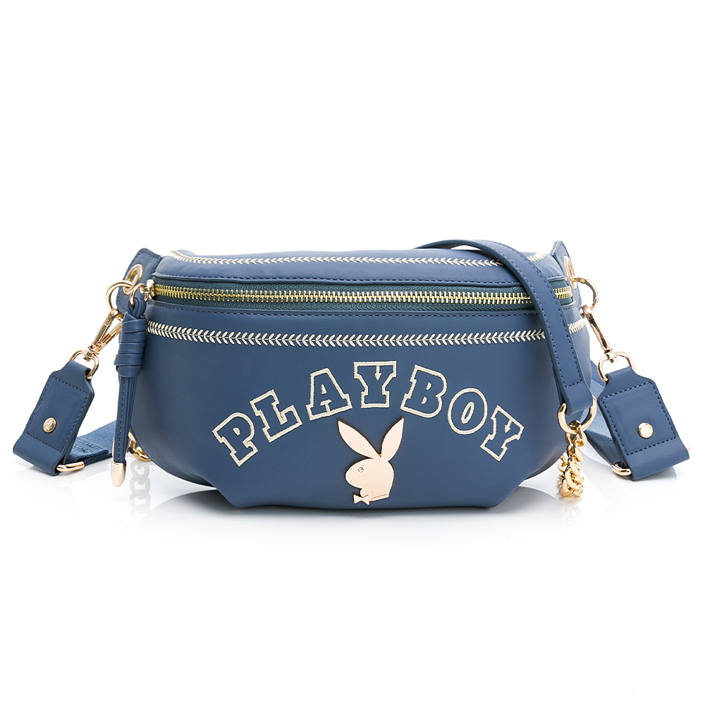 PLAYBOY -  單肩背包-腰包款型 Chic系列 - 藍色