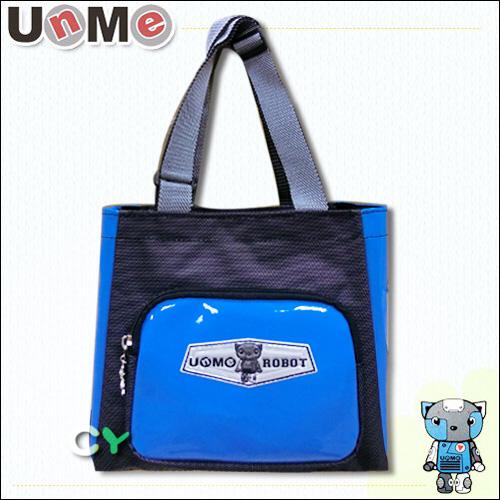 【UnMe】機器人可愛馬卡色餐袋/藍色