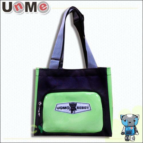 【UnMe】機器人可愛馬卡色餐袋/綠色