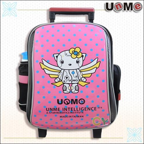 【UnMe】機器人閃亮拉桿後背書包/桃粉紅