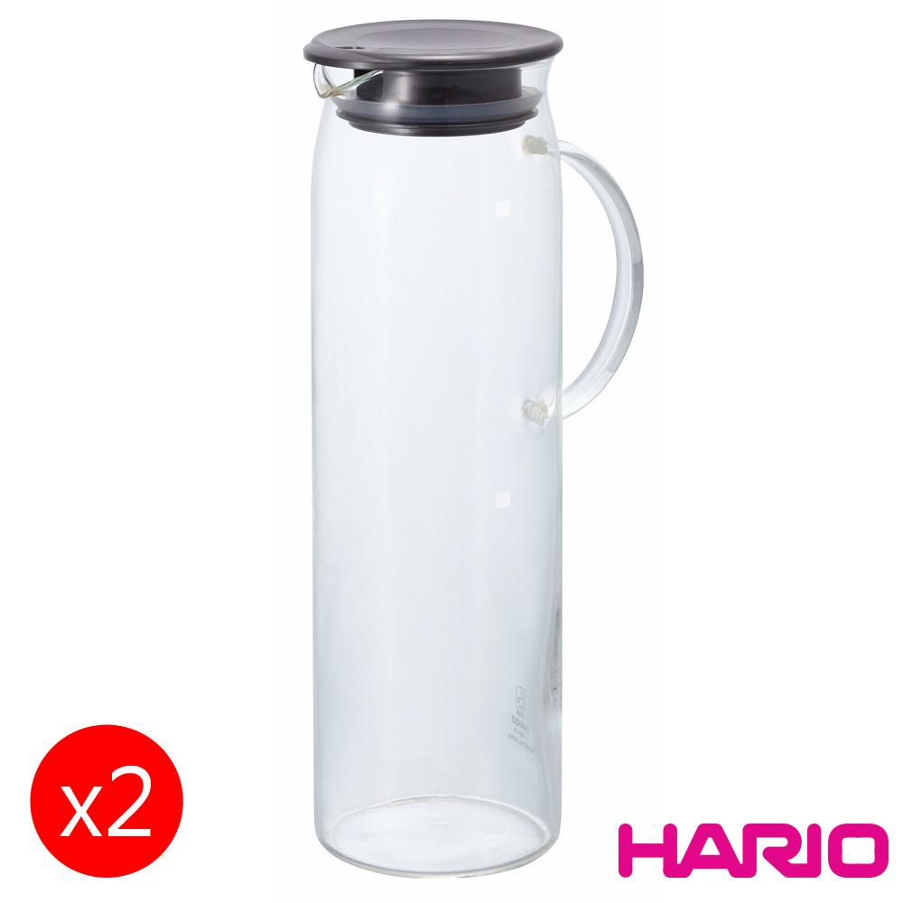 【HARIO】靛藍把手冷水壺1000ml HDP-10PGR 2入組