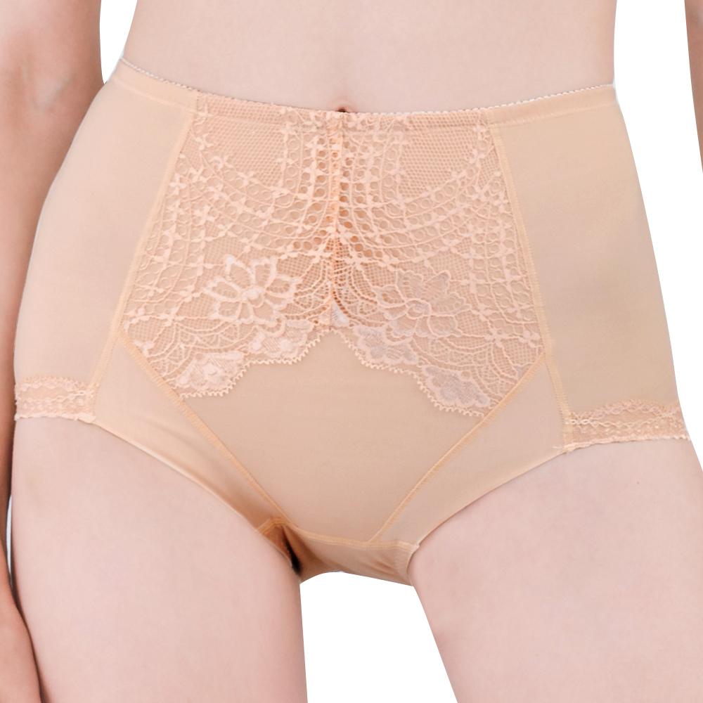 【思薇爾】挺美力系列M-XXL蕾絲高腰三角修飾褲(金檳膚)