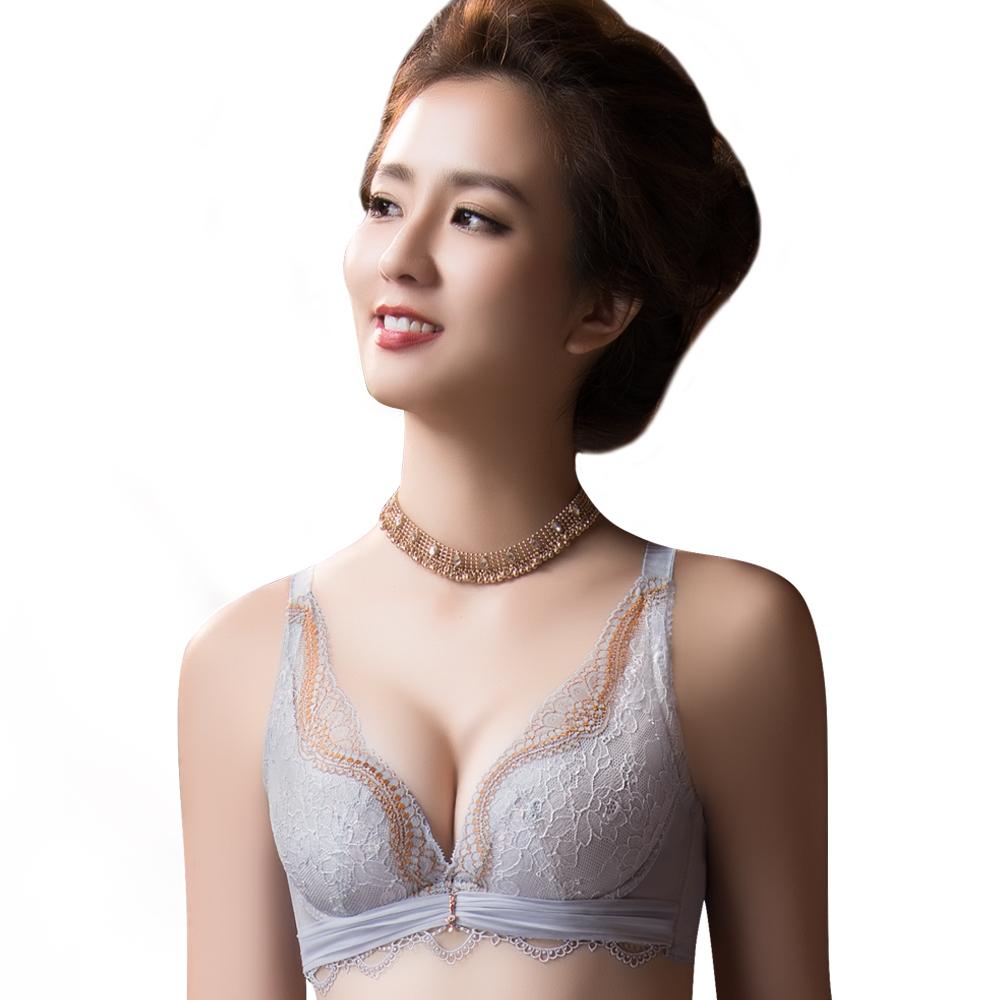 【思薇爾】薔薇魅影系列B-E罩蕾絲包覆內衣(雲河灰)