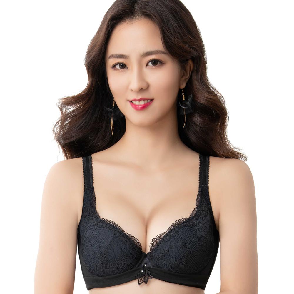 【思薇爾】撩波系列F-G罩蕾絲包覆大罩內衣(黑色)