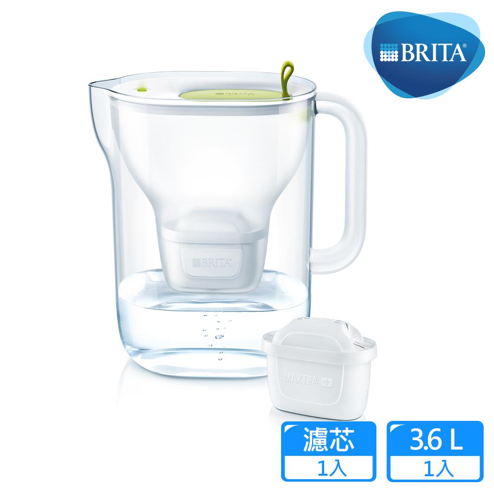 【德國BRITA】Style 3.6L純淨濾水壺_萊姆綠 (內含MAXTRA Plus全效濾芯1入)