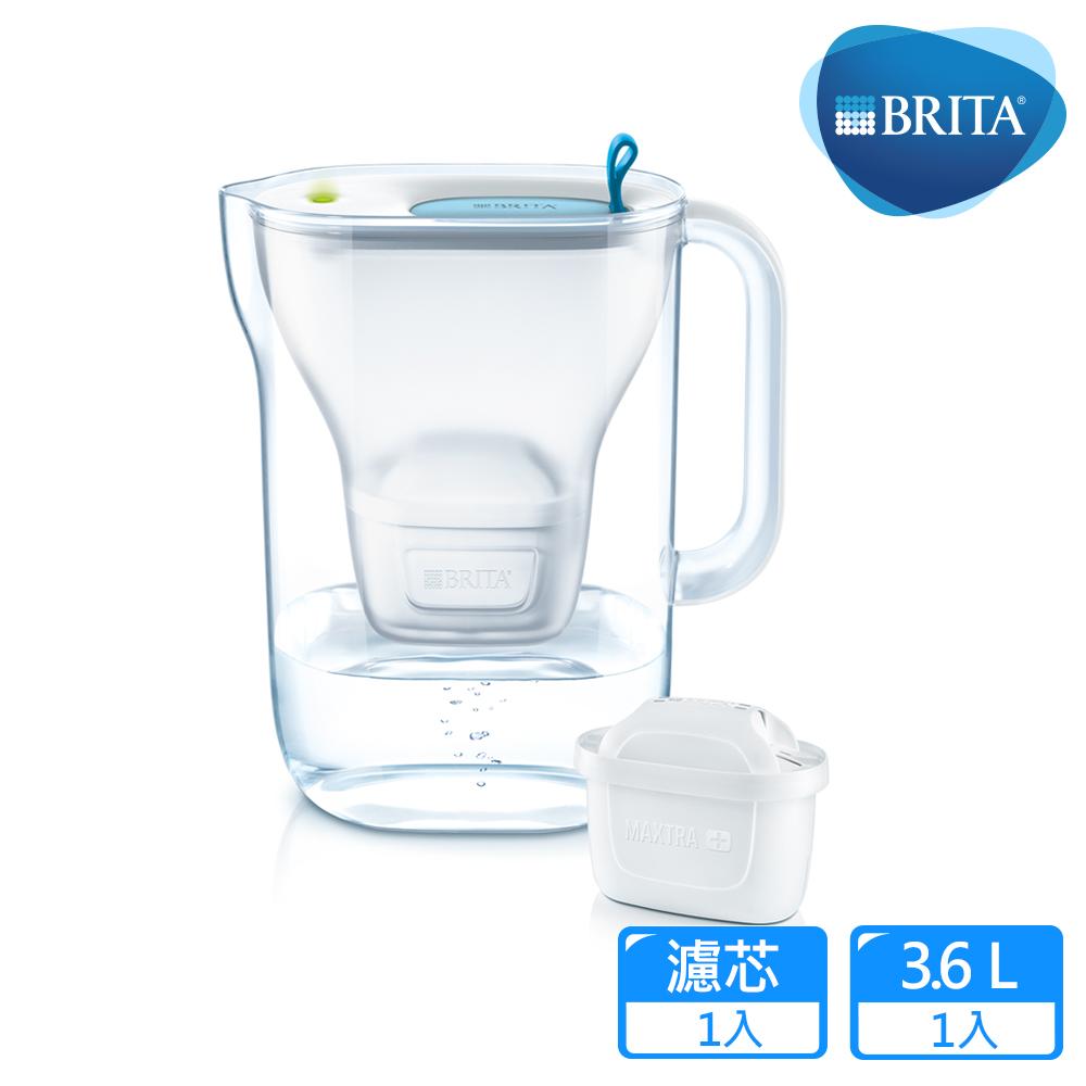 【德國BRITA】Style 3.6L純淨濾水壺_藍色 (內含MAXTRA Plus全效濾芯1入)