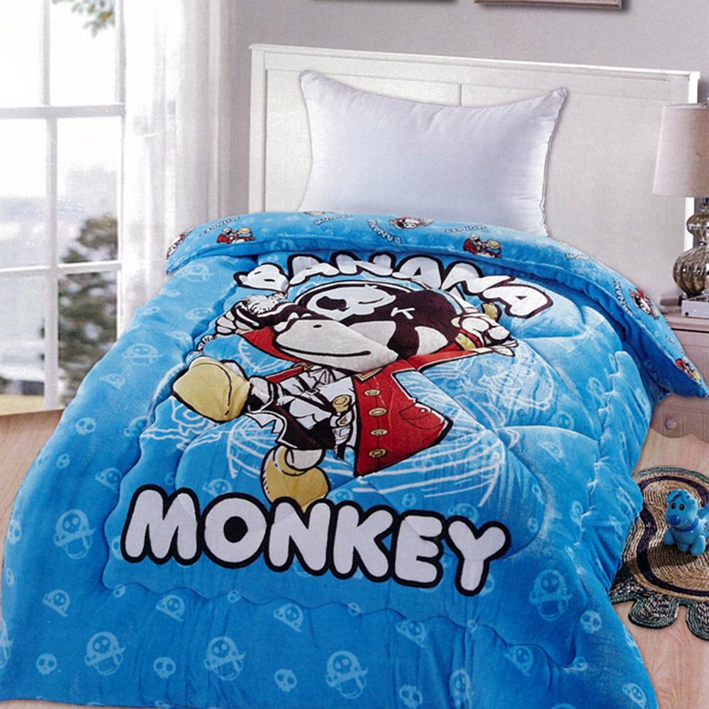 Banana Monkey法蘭絨冬被-勇敢海盜猴