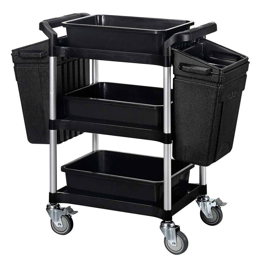 【nicegoods】小型三層餐廚整備工作推車+整理籃+掛桶(全配)