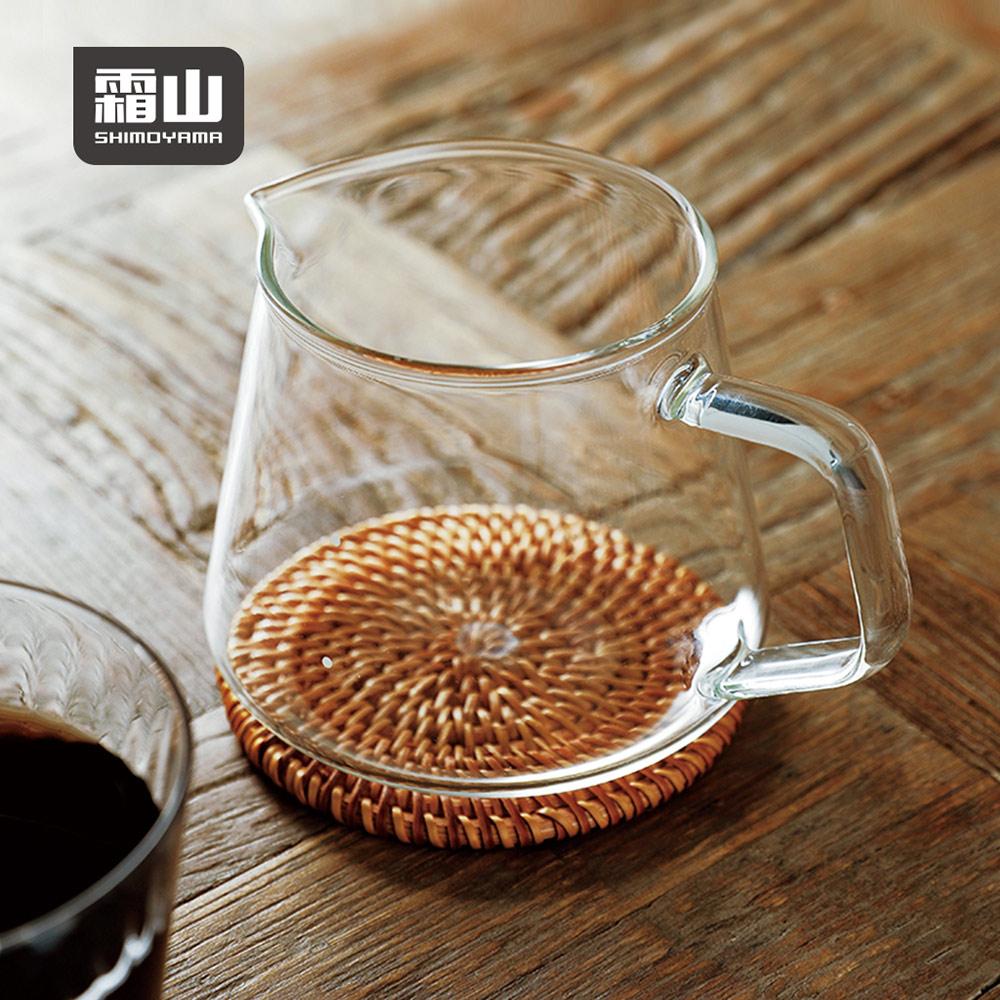 【日本霜山】高透耐熱玻璃手沖咖啡分享壺-400ml