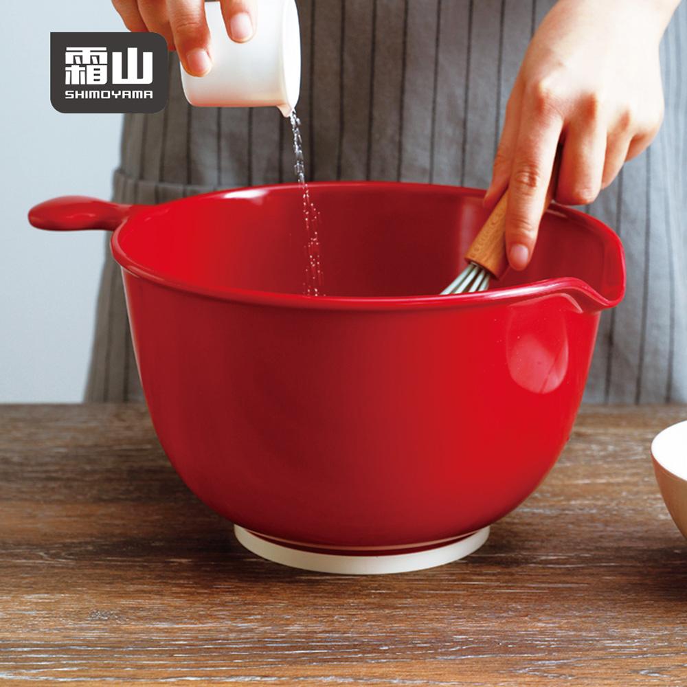 【日本霜山】仿瓷深型料理止滑攪拌盆-3.8L (打蛋盆/調理盆)