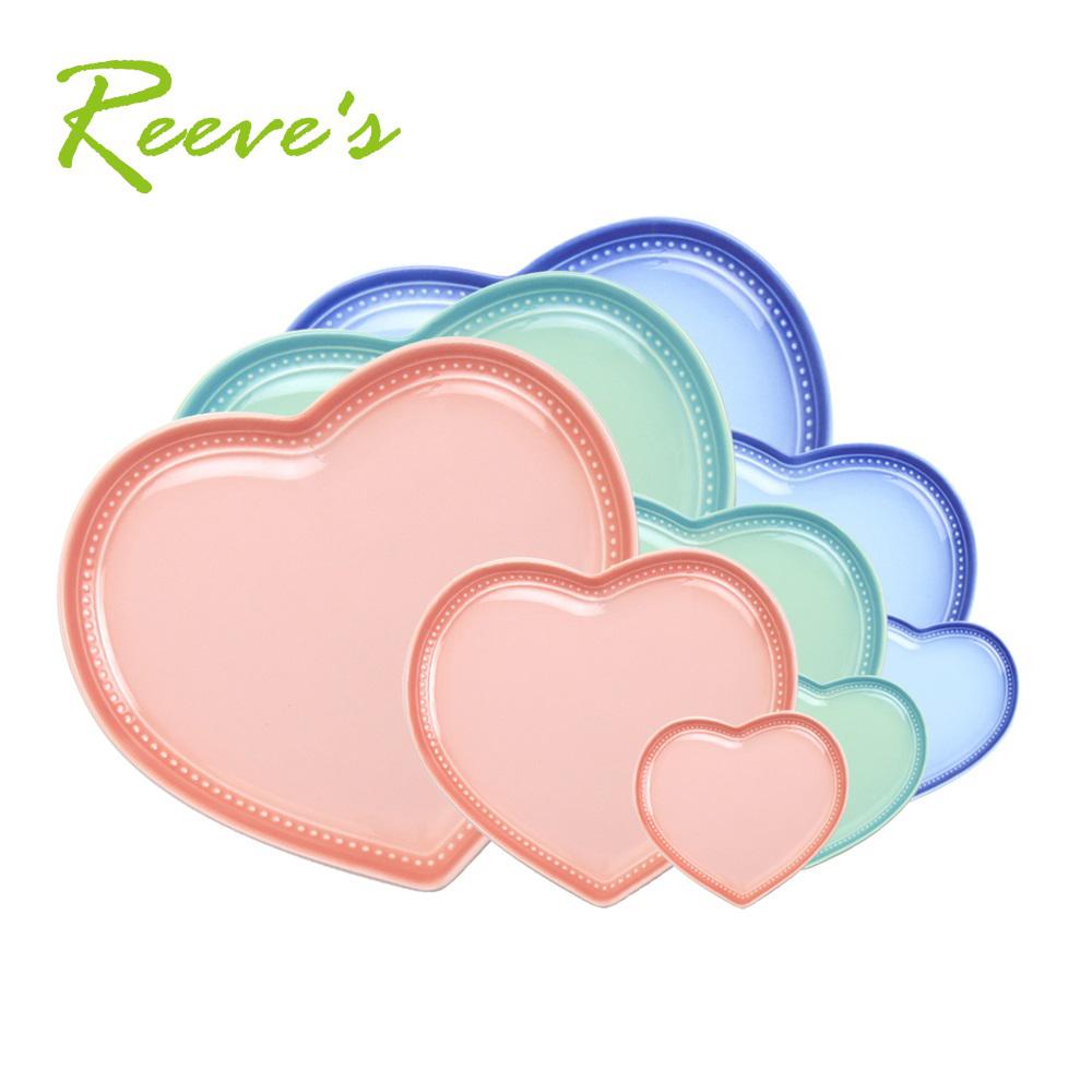 【韓國Reeves 維思】北歐FIKA陶瓷心形盤3件組(3色可選)
