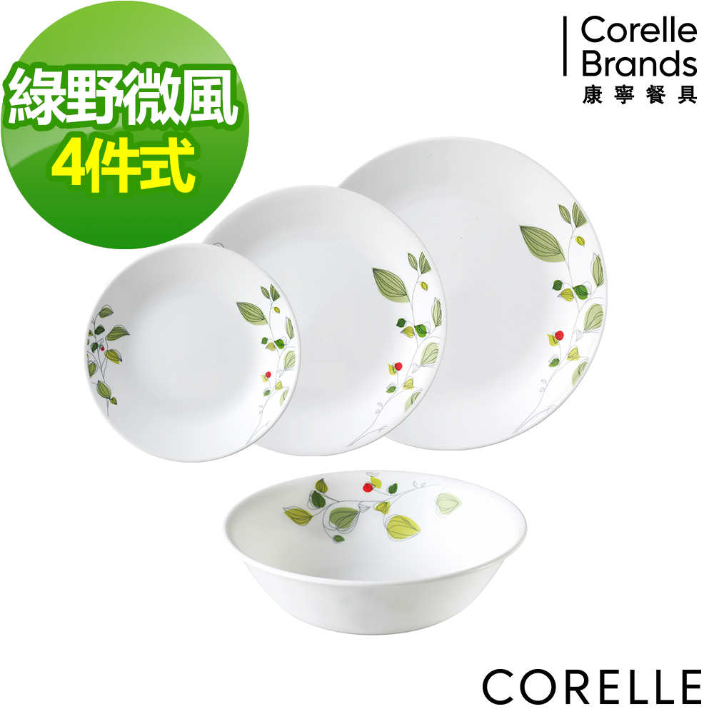 CORELLE康寧綠野微風4件式餐盤組 (D02)