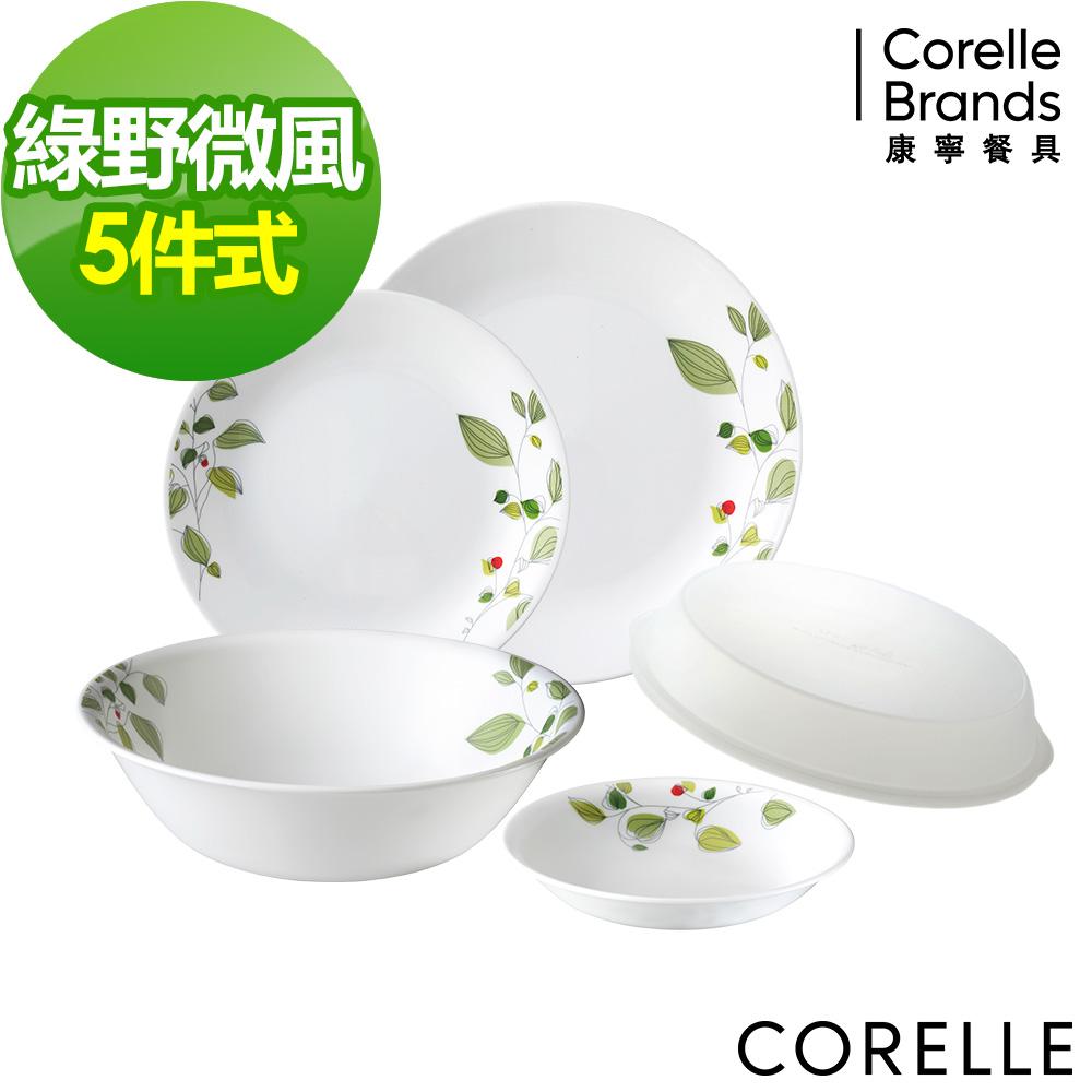 CORELLE康寧綠野微風5件式餐盤組 (E01)