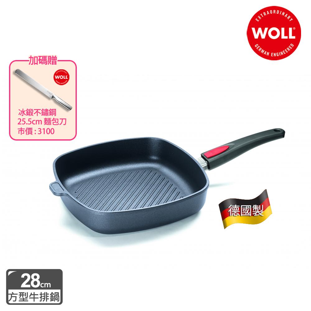 【德國 WOLL】Titan Best鈦鑽石系列28cm方型牛排鍋