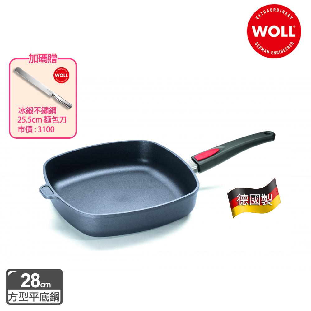 【德國 WOLL】Titan Best鈦鑽石系列28cm方型平底鍋