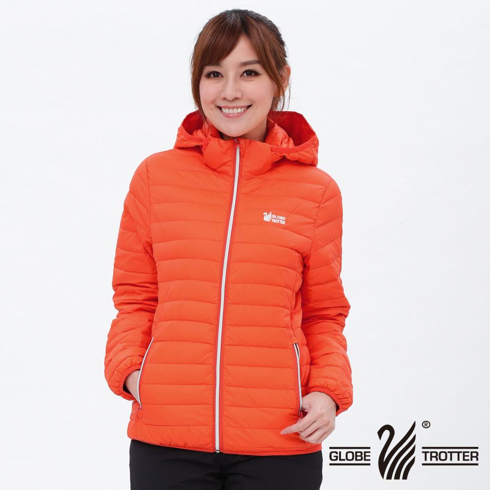 女款JIS90%羽絨防風防潑水輕暖羽絨外套G0312桔色