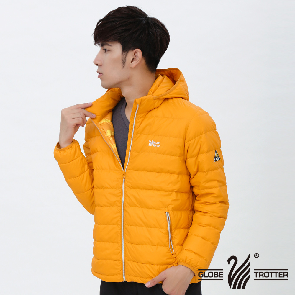 男款JIS90%羽絨防風防潑水輕暖羽絨外套G0313金黃