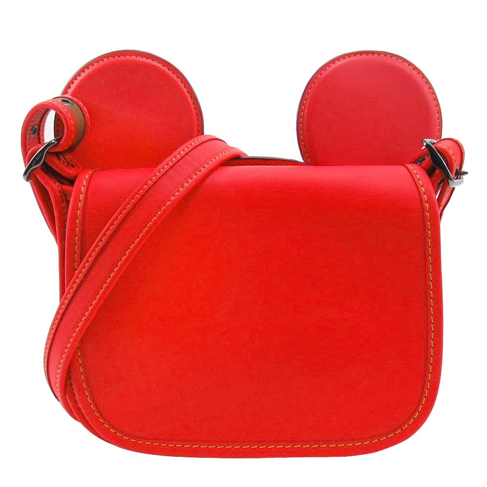 【聯名限定】COACH x Disney 米奇限量聯名款大耳朵斜背包(紅)
