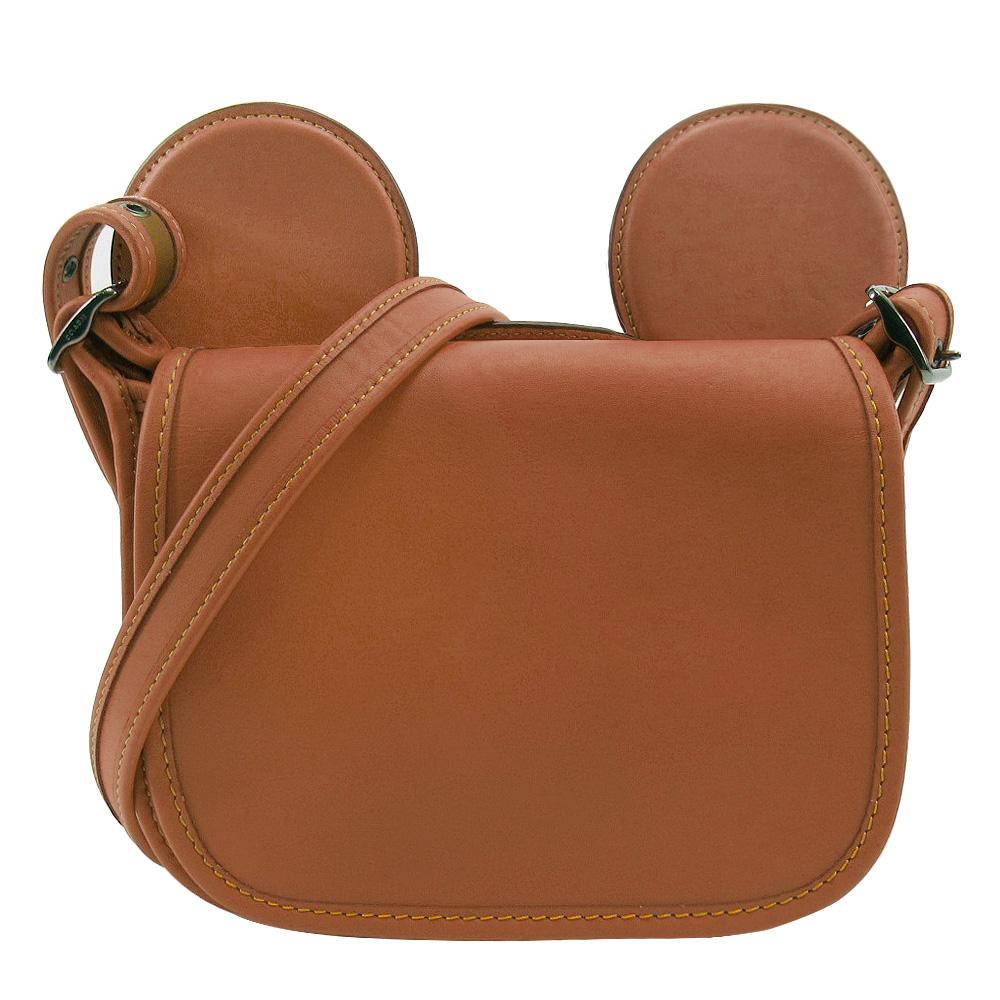 【聯名限定】COACH x Disney 米奇限量聯名款大耳朵斜背包(焦糖棕)