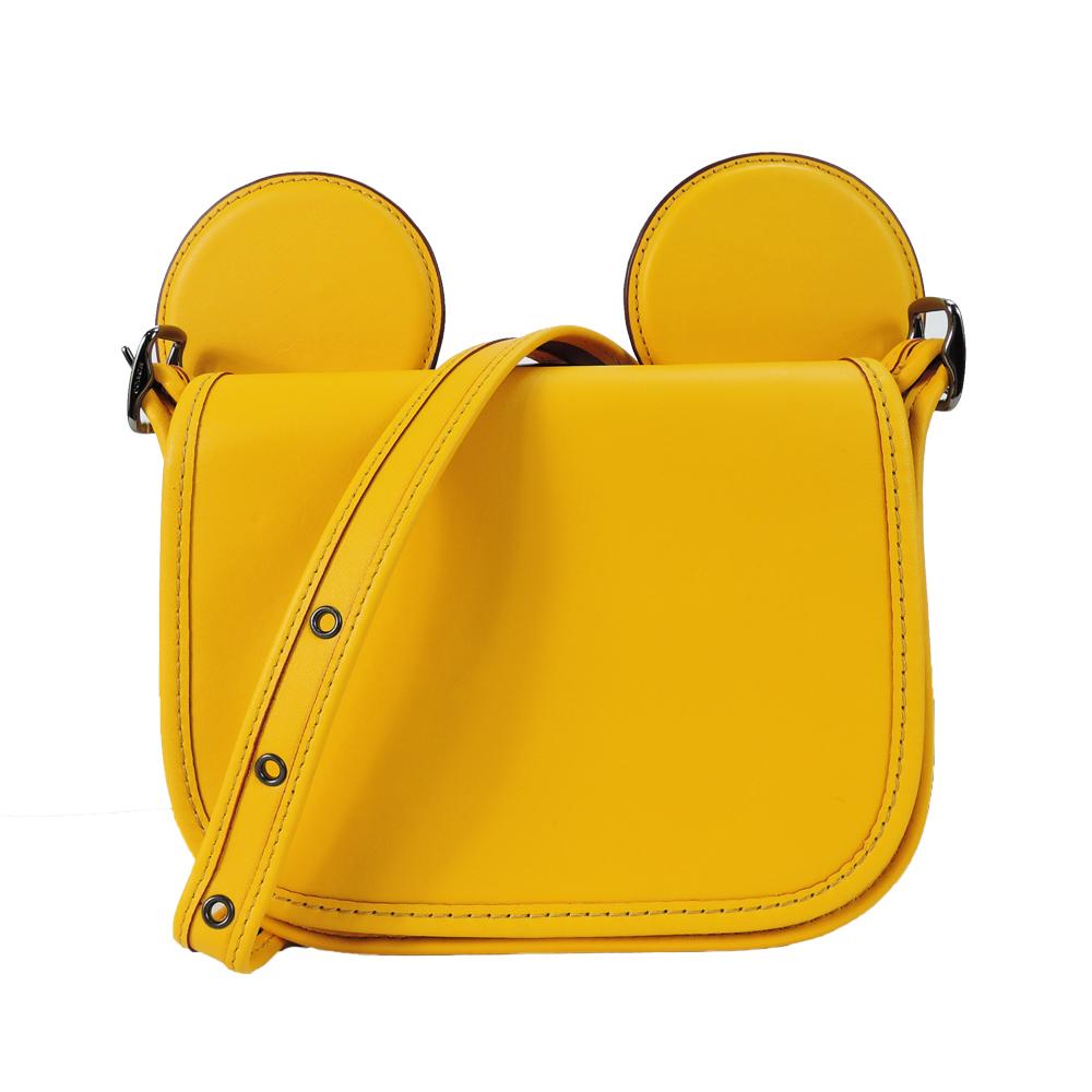 【聯名限定】COACH x Disney 米奇限量聯名款大耳朵斜背包(黃)