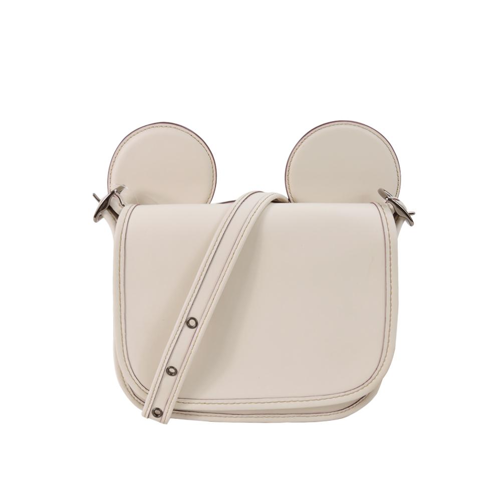 【聯名限定】COACH x Disney 米奇限量聯名款大耳朵斜背包(白)