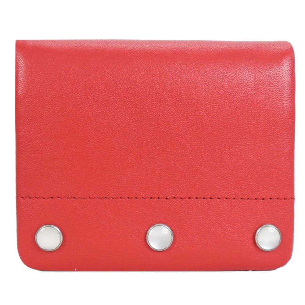 agnes b.金屬珠飾迷你夾(紅)