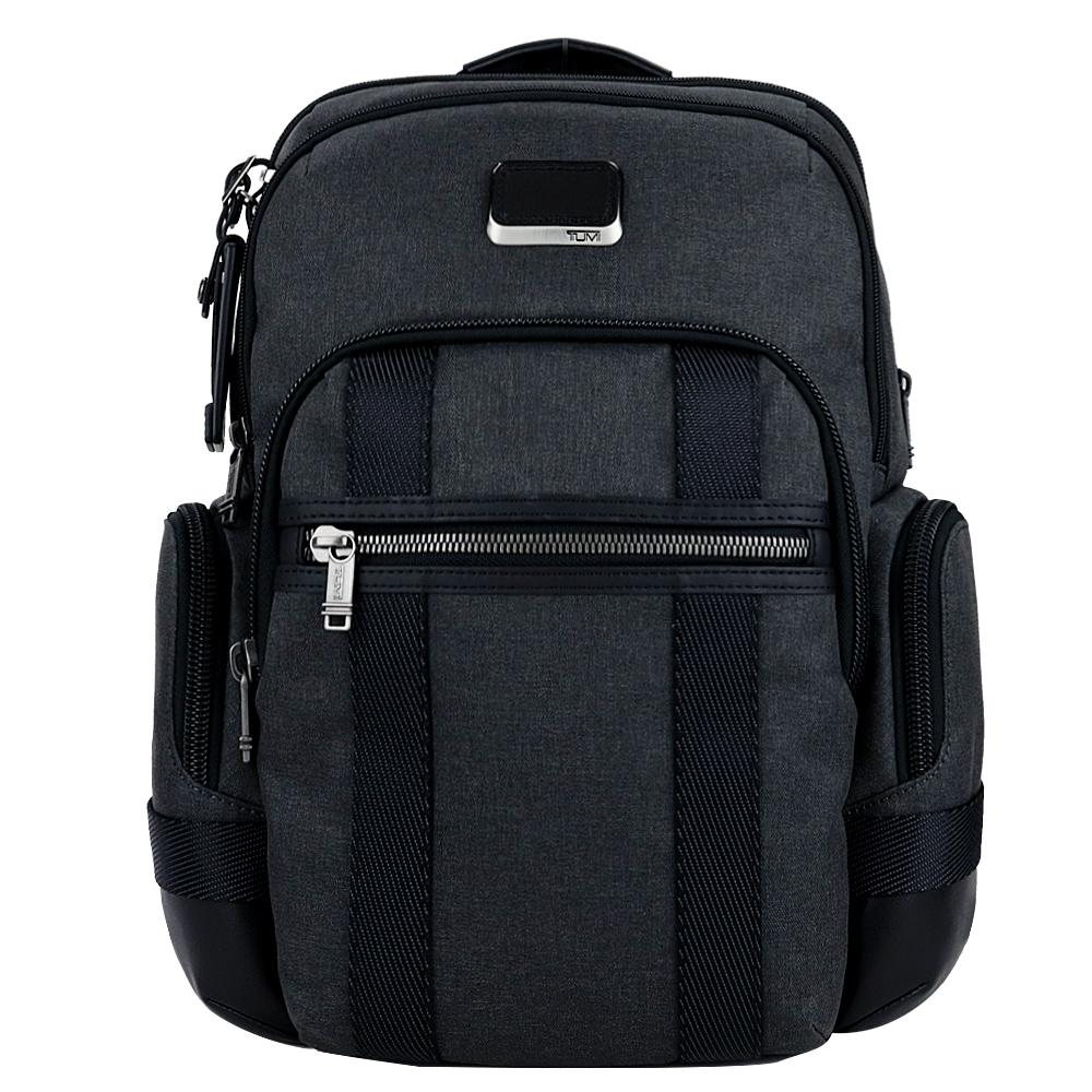 TUMI ALPHA BRAVO NATHAN系列15吋筆電多夾層後背包(碳黑)